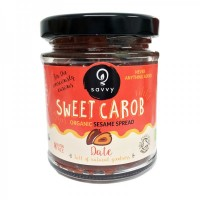 Naturally Sweet Organic Carob Sesame Spread with Date